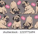 seamless pattern. adorable... | Shutterstock .eps vector #1215771694