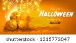 happy halloween banners party... | Shutterstock .eps vector #1215773047