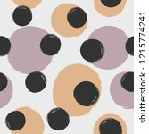 repeating round dots drawn by... | Shutterstock .eps vector #1215774241