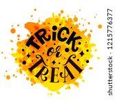 trick or treat vector... | Shutterstock .eps vector #1215776377