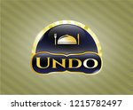 gold badge with special food...   Shutterstock .eps vector #1215782497
