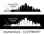 winston   salem skyline   north ...   Shutterstock .eps vector #1215784357