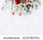 christmas decoration. twigs... | Shutterstock . vector #1215785761