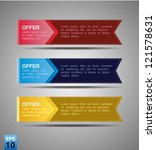 color ribbon label set | Shutterstock .eps vector #121578631