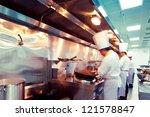 motion chefs of a restaurant...   Shutterstock . vector #121578847