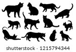 Cat Vector Silhouettes Set...