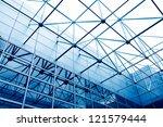 glass office buildings in wide...   Shutterstock . vector #121579444