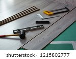 home repairs. laminate... | Shutterstock . vector #1215802777