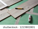 home repairs. laminate... | Shutterstock . vector #1215802801