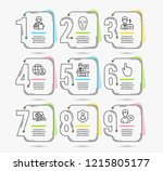 infographic timeline. set of... | Shutterstock .eps vector #1215805177