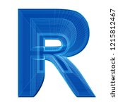 the letter r in a distinctive... | Shutterstock . vector #1215812467
