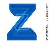 the letter z in a distinctive... | Shutterstock . vector #1215812494