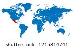 the world and mexico map | Shutterstock .eps vector #1215814741