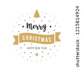 merry christmas greeting text... | Shutterstock .eps vector #1215814924