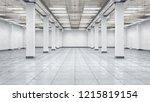 empty hangar interior. 3d...   Shutterstock . vector #1215819154