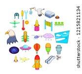 air navigation icons set.... | Shutterstock .eps vector #1215821134