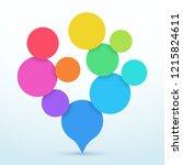 bubbles tree shape 3d... | Shutterstock .eps vector #1215824611