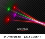 laser beam collection. colorful ... | Shutterstock .eps vector #1215825544