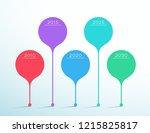 timeline colorful vector 3d...   Shutterstock .eps vector #1215825817