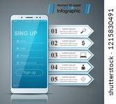 digital gadget  smartphone... | Shutterstock .eps vector #1215830491