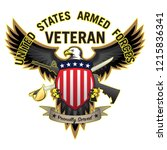 united states armed forces... | Shutterstock .eps vector #1215836341