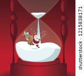 santa claus delivering... | Shutterstock .eps vector #1215838171