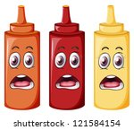 illustration of bottles with... | Shutterstock . vector #121584154