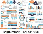 set of abstract infographics...   Shutterstock .eps vector #1215844831