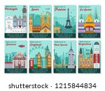 set of different cities for... | Shutterstock .eps vector #1215844834