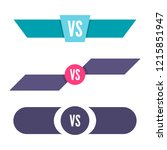 versus logo. vs vector letters...   Shutterstock .eps vector #1215851947