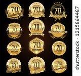 retro vintage anniversary... | Shutterstock .eps vector #1215864487