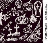 halloween. seamless pattern.... | Shutterstock .eps vector #1215867367