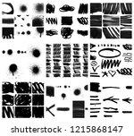 graffiti grunge texture shape | Shutterstock . vector #1215868147