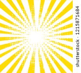 yellow background with rays | Shutterstock . vector #1215871684