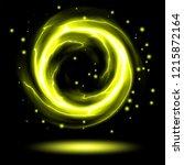 yellow flame fire ball   ... | Shutterstock .eps vector #1215872164