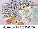 golden bitcoins new virtual...   Shutterstock . vector #1215882214