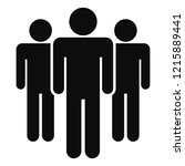 people meeting icon. simple... | Shutterstock . vector #1215889441