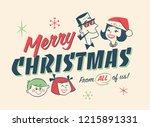 vintage style family spirit... | Shutterstock .eps vector #1215891331