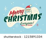 vintage style christmas... | Shutterstock .eps vector #1215891334