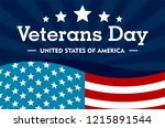 veterans day concept background.... | Shutterstock . vector #1215891544