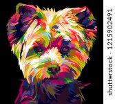 Colorful Shih Tzu Dog. Pop Art...