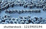 preposition   word from metal... | Shutterstock . vector #1215905194