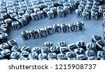 syllabus   word from metal... | Shutterstock . vector #1215908737