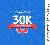 thank you 30000 or 30k... | Shutterstock .eps vector #1215913177
