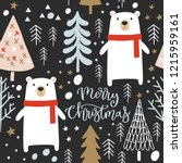 christmas seamless pattern ... | Shutterstock .eps vector #1215959161