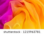 texture chiffon fabric pink and ... | Shutterstock . vector #1215963781