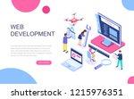 modern flat design isometric... | Shutterstock .eps vector #1215976351