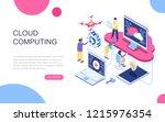 modern flat design isometric... | Shutterstock .eps vector #1215976354