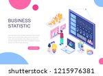 modern flat design isometric... | Shutterstock .eps vector #1215976381
