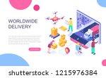 modern flat design isometric... | Shutterstock .eps vector #1215976384